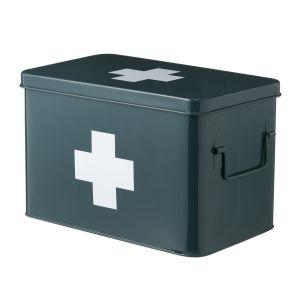 HEMA Medicijnbox 19,5 X 32 X 21 Cm (donkergroen)