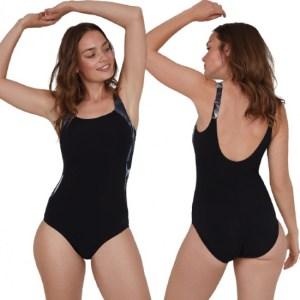 Speedo badpak LunaLustre dames nylon/lycra zwart maat XL