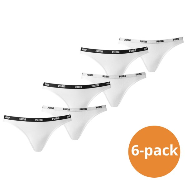 Puma Bikini Slip Dames Wit 6-Pack