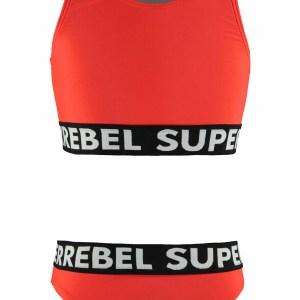 SUPERREBEL Meisjes bikini sportief - Neon rood