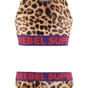 SUPERREBEL Meisjes bikini sportief - Luipaard AOP