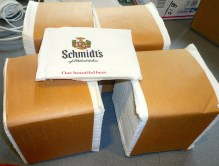 When the Schmidt's brewery closed in the 80s they basically left everything in the buildings for scroungers, looters and scrappers, so there's a ton of Schmidt's stuff on eBay. This is my latest purchase. Looks like I won't need any bar napkins for some time.