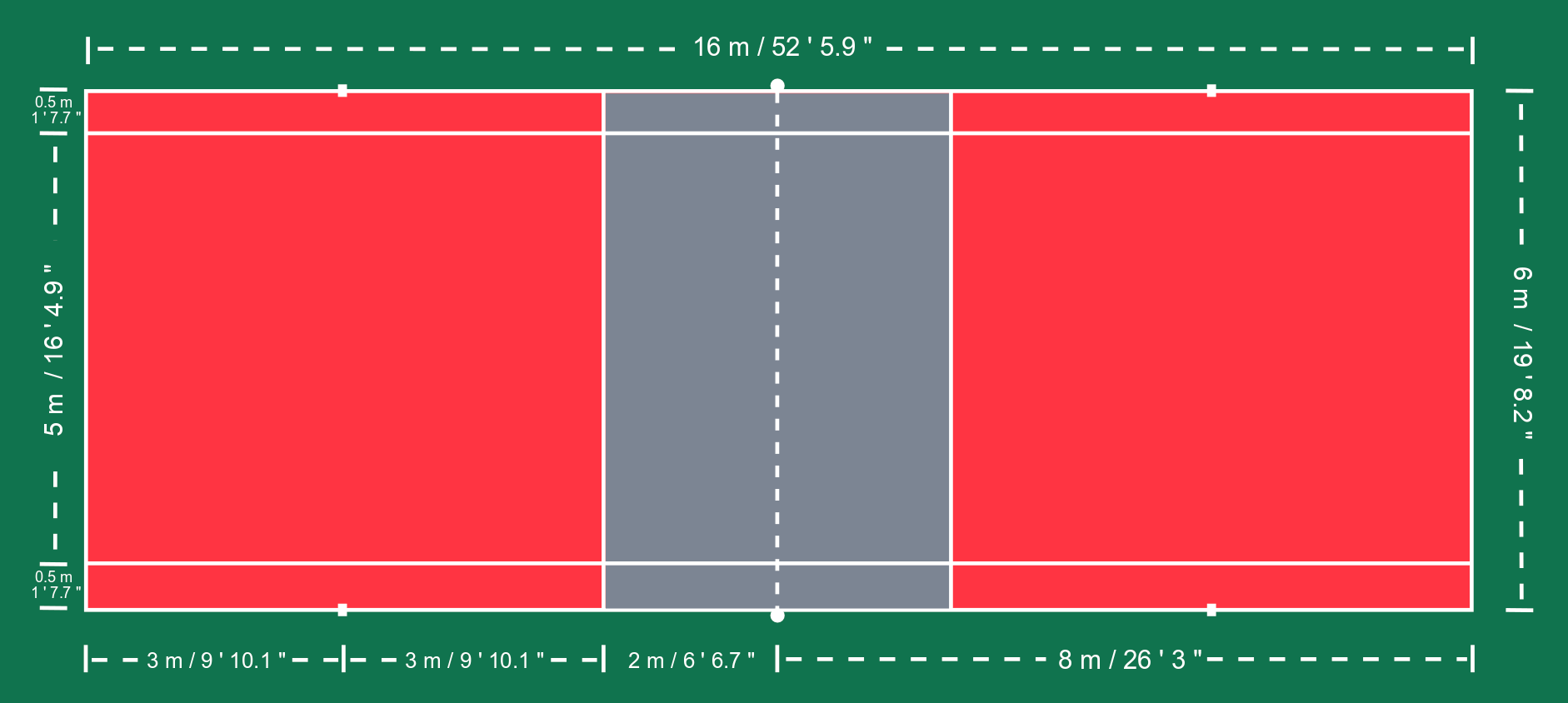 What are the Dimensions of an AirBadminton Court?