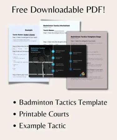 Badminton Tactics Free PDF