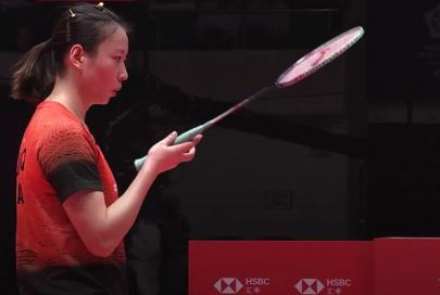 Blowing on a Badminton Racket