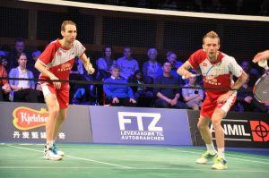 Mathias Boe og Carsten Mogensen er sikkert videre. Foto @ Annette Vollertzen