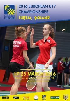 Nederlandse badmintonploeg U17 uitgespeeld op badminton EK 2016
