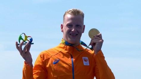 Ferry Weertman: Goud Zwemmen 10 km.