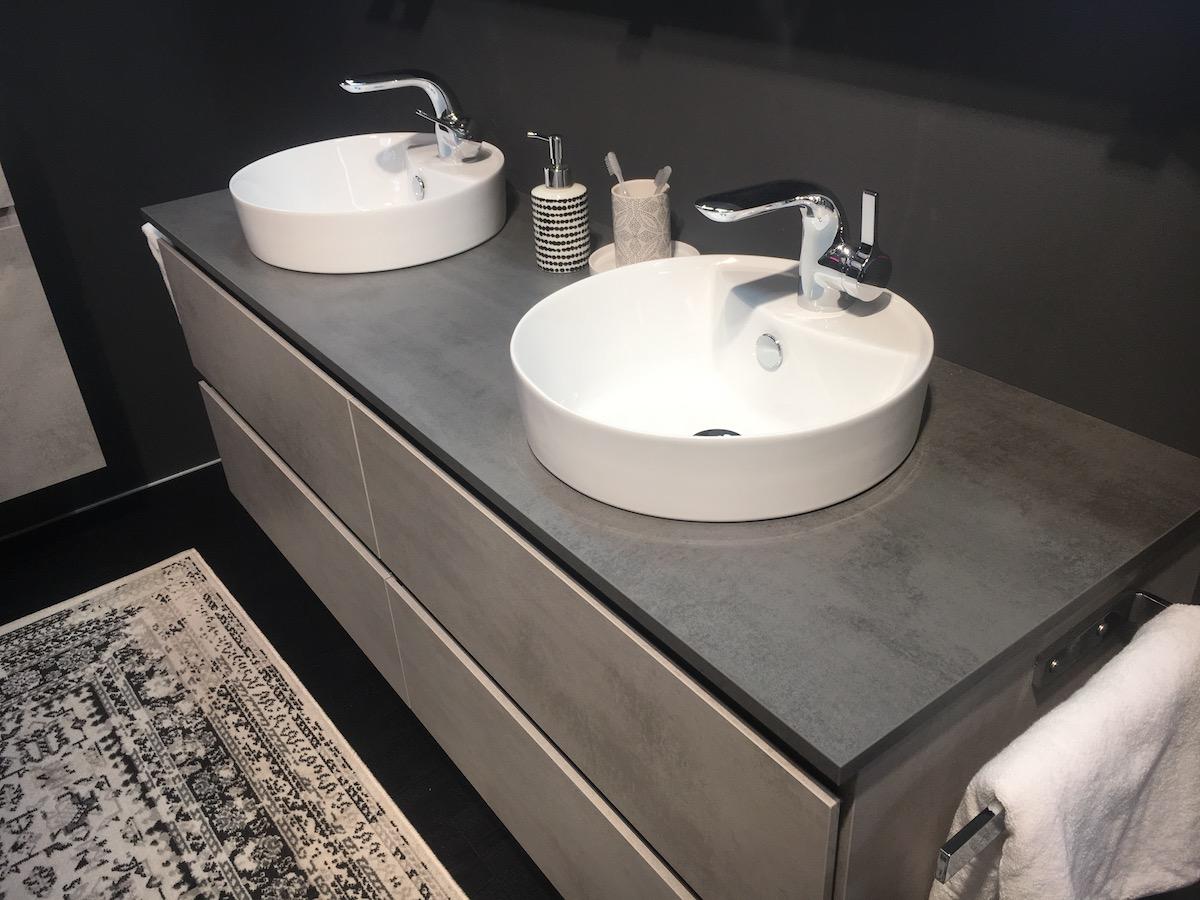 Doppelwaschbecken Bad   Waschtischunterschrank Zubella In ...