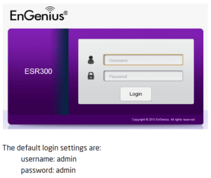 EnGenius default credentials