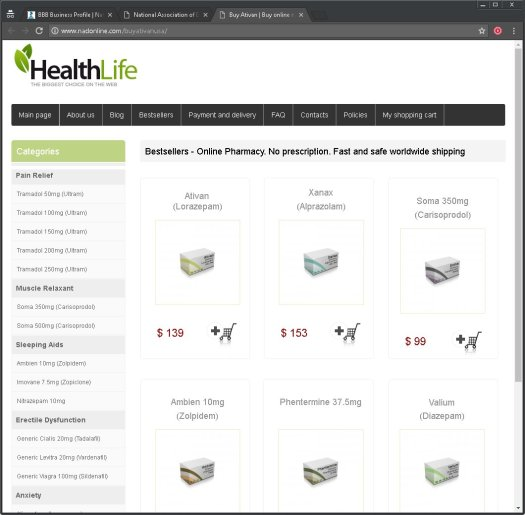 National  Association of Doctors fake online pharmacy