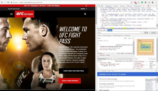 UFC Fight Pass hosting Coinhive malware