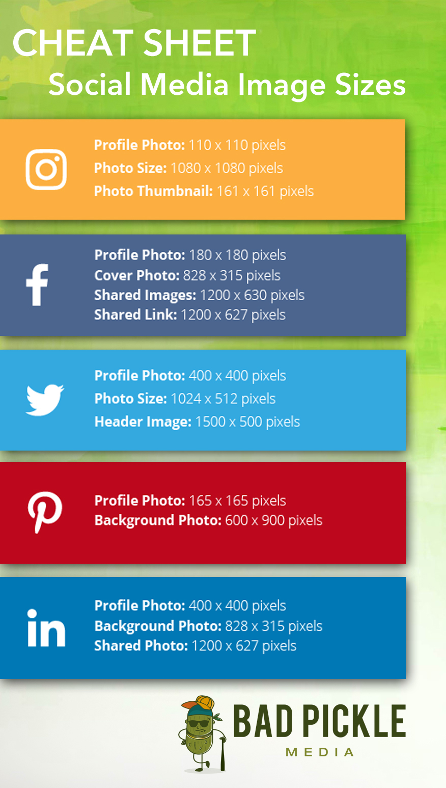 Social Media Images Sizes