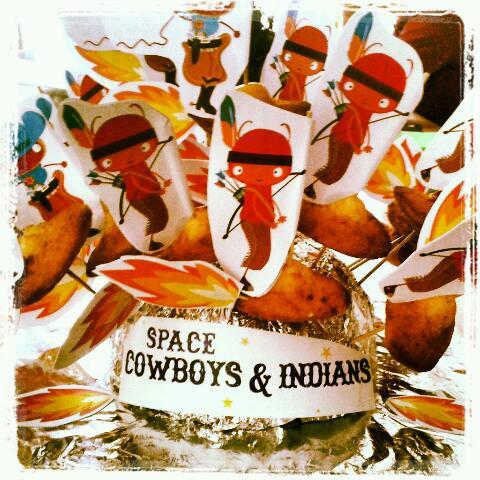 Traktatie indiaan en cowboys