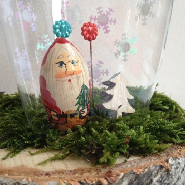 kerststolp van een wijnglas - gemaakt door het creatief lifestyle blog www.badschuim.eu