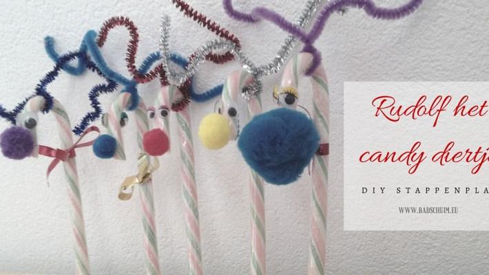 rudolf het candydiertje - gemaakt door het creatief lifestyle blog www.badschuim.eu