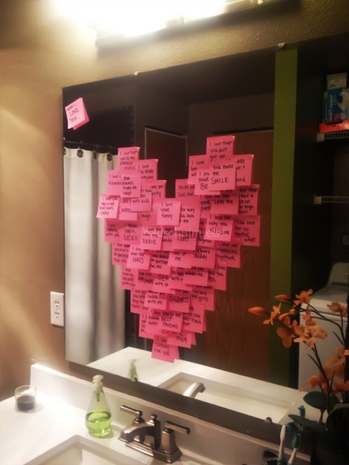 Valentijn inspiratie_boodschap op een spiegel_blog badschuim.eu
