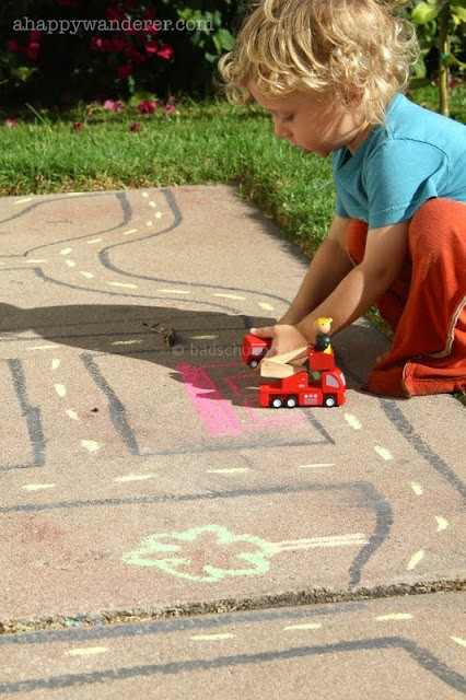 Stoepkrijt spelletjes autoweg 2 I Creatief lifestyle blog Badschuim