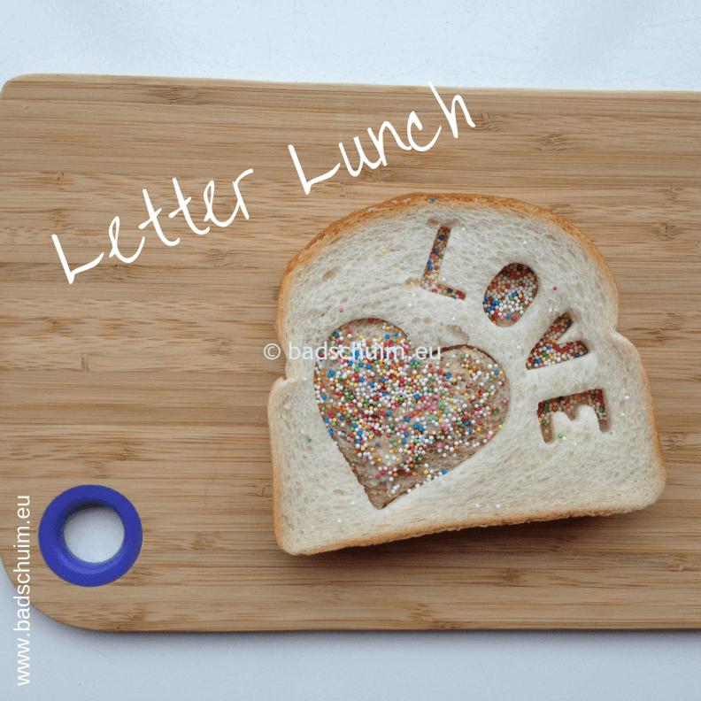 Broodtrommel tips wk 4 - Letter Lucnh 01 I gemaakt door het creatief lifestyle blog Badschuim