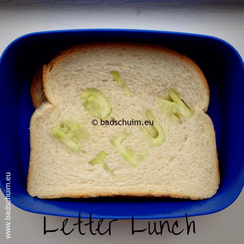 Broodtrommel tips wk 4 - Letter Lucnh I gemaakt door het creatief lifestyle blog Badschuim