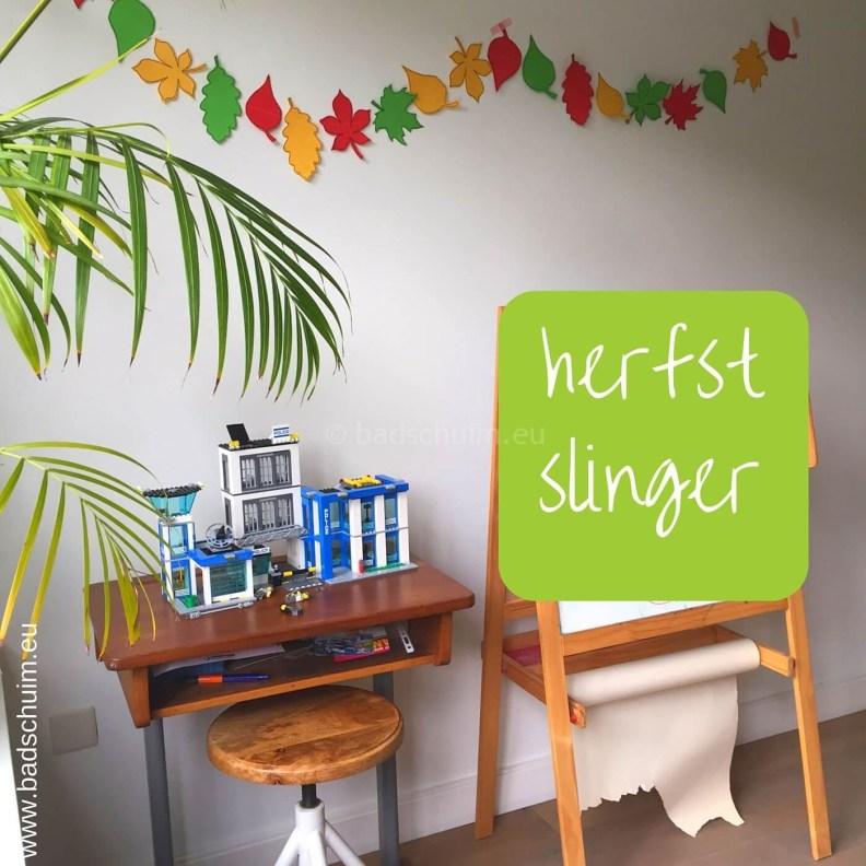 Herfstslinger maken met papier I resultaat I gemaakt door het creatief lifestyle blog Badschuim