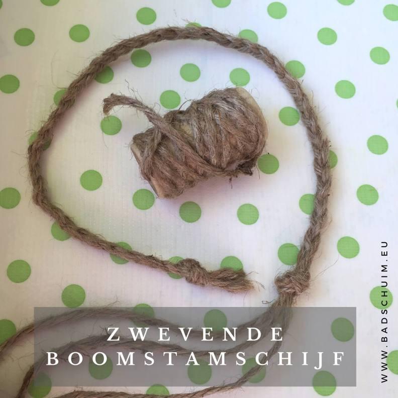 zwevende boomstam schijf I stap 1 I gemaakt door het creatief lifestyle blog Badschuim