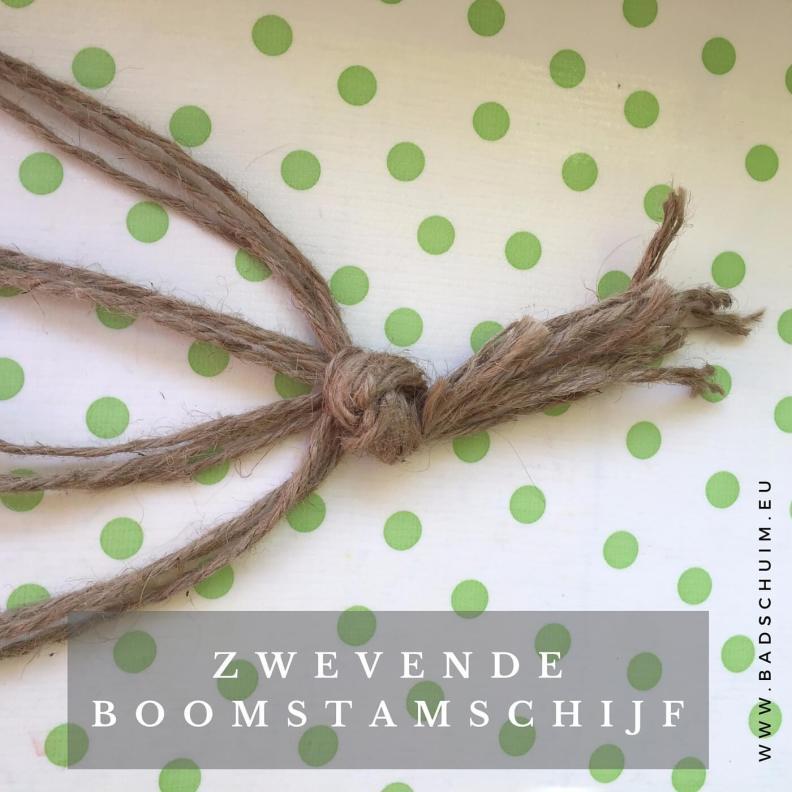 zwevende boomstam schijf I stap 2 I gemaakt door het creatief lifestyle blog Badschuim