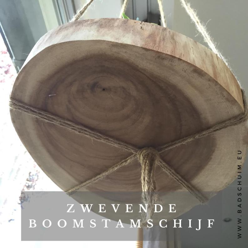 zwevende boomstam schijf I stap 5 I gemaakt door het creatief lifestyle blog Badschuim