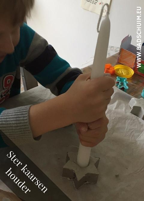 Ster kaarsenhouder - gemaakt door het creatief lifestyle blog www.badschuim.eu