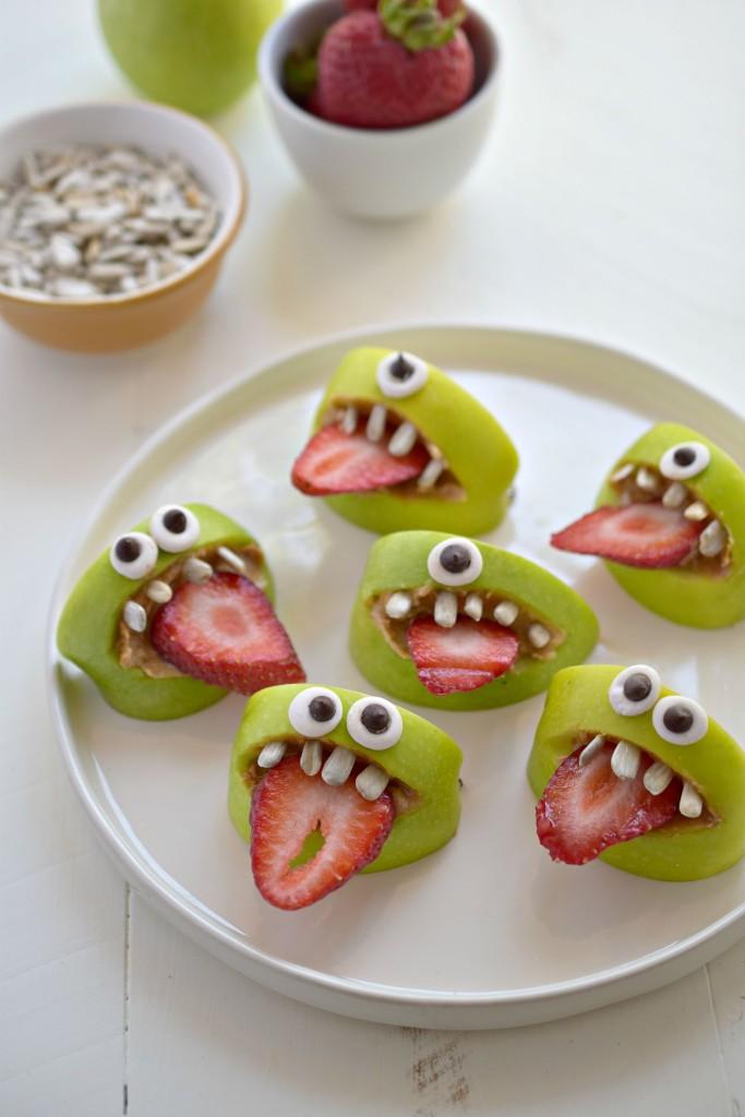 gezonde kinderhapjes monster appels