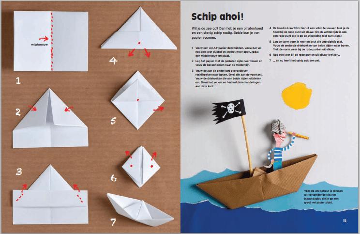 het grote knutsel- en speelboek _voorbeeld bladzijde schip ahoi