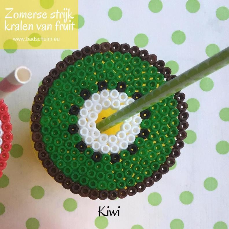 Strijkkralen fruit, kiwi, strijkkralen patroon,