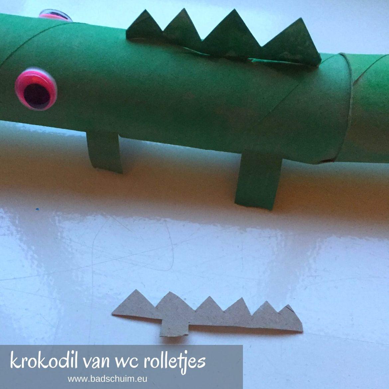 krokodil wc rol, wc rol dieren, wc rolletjes, lege wc rol diy