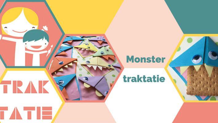 Monster traktatie, monsters trakteren, koekiemonster traktatie