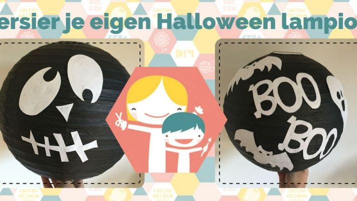 Versier je eigen Halloween lampion - knutselen voor Halloween