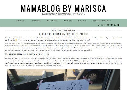 In de media webshop krijtstifttekening Mamablog by marisca - 2016-12-07