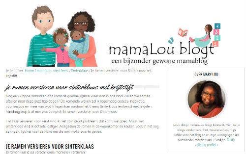 In de media webshop krijtstifttekening Mamalou blogt - 2016-10-17