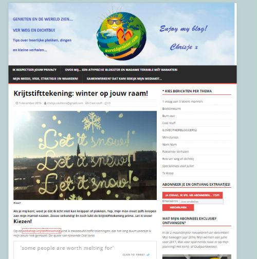 In de media webshop krijtstifttekening Wereldgenieter - 2016-12-05
