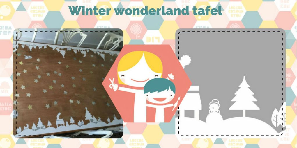Winter wonderland tafel – DIY winter tafeldecoratie