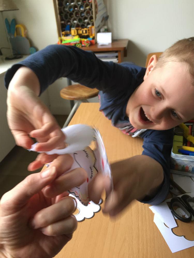 Zelf vingerpoppetjes maken - vingerpopjes sjabloon