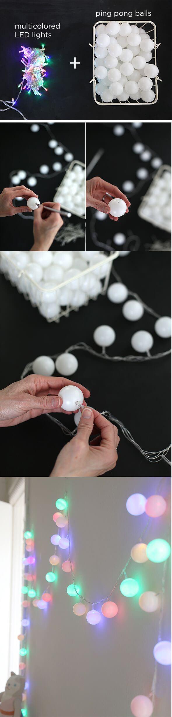 Pinpongballen lichtslingers