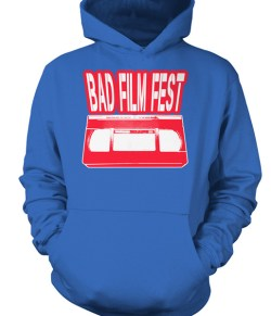 Bad Film Fest VHS – Red, White & Blue (t-shirt or sweatshirt)