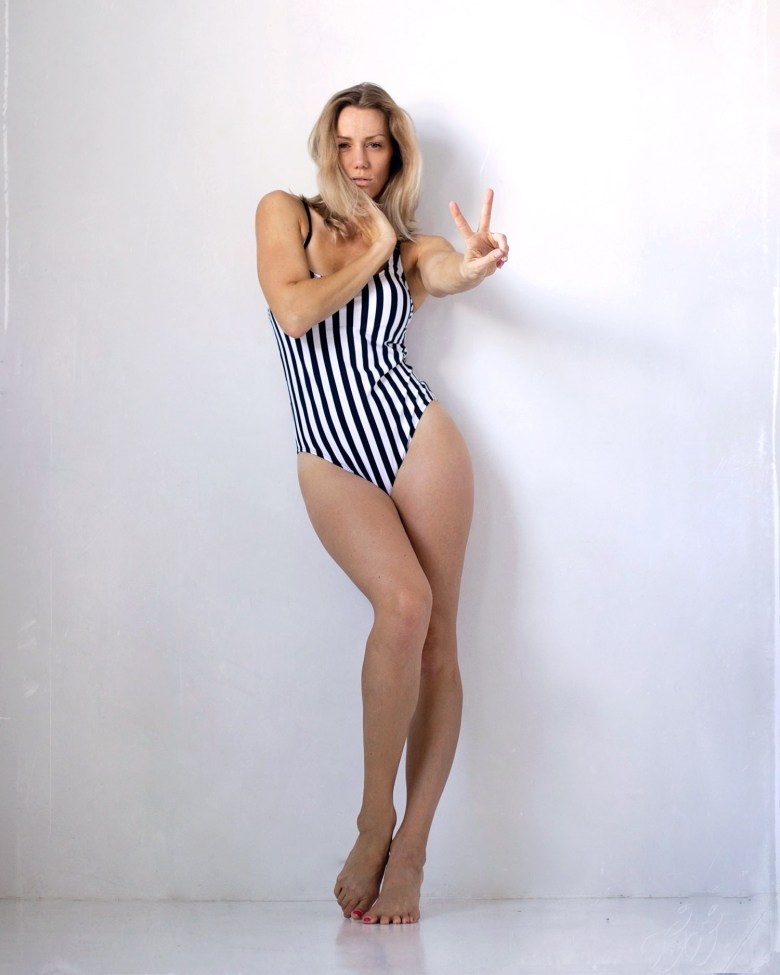 stripe one piece swimsuit