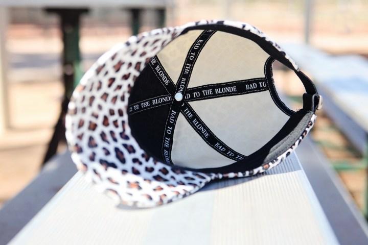 faux leather leopard print hat