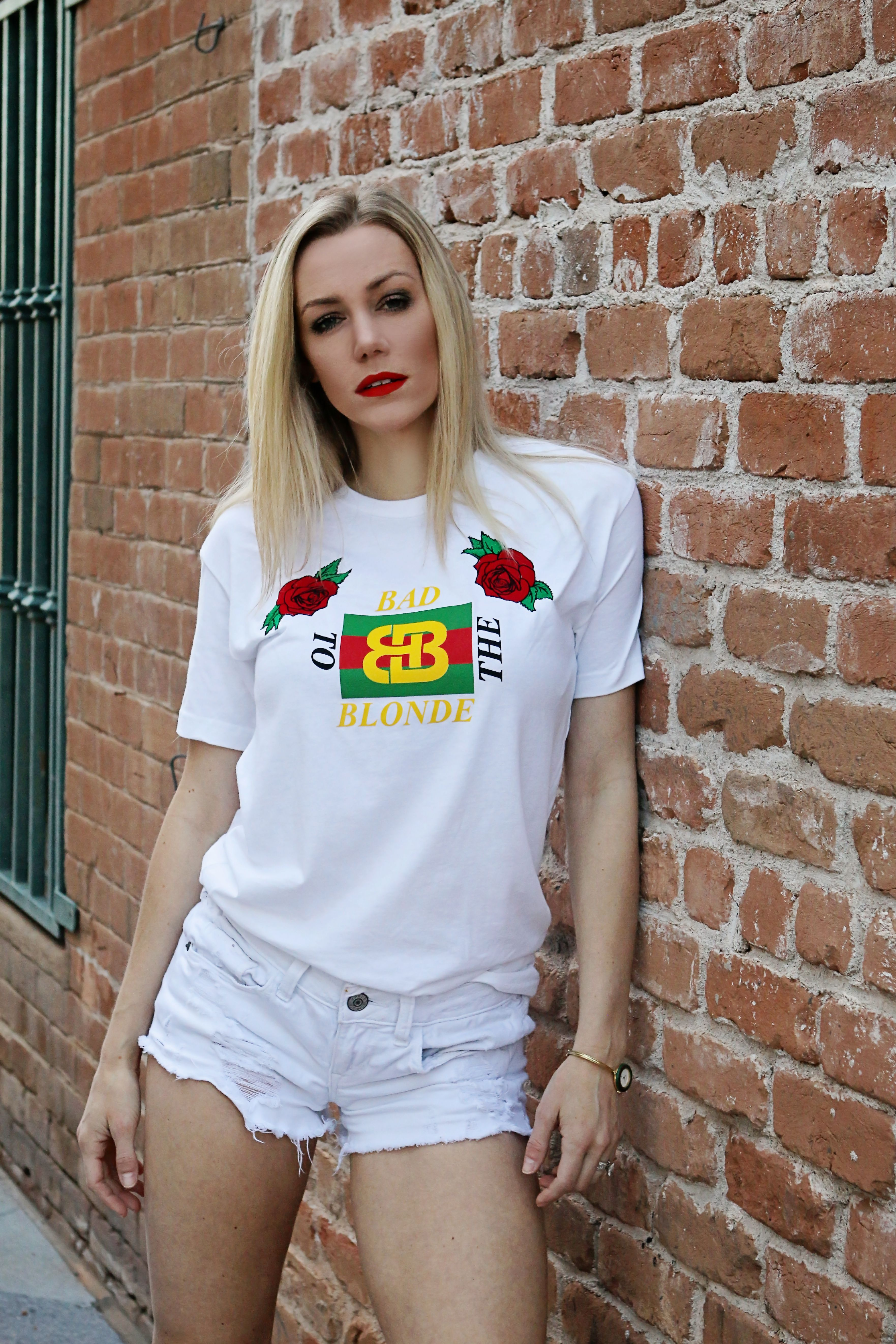 61a25d3f Blonde and boujee Gucci stripe tee -