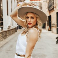boho bride outfit rancher fedora hat