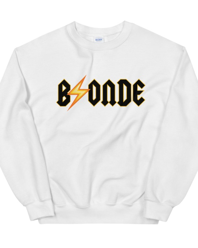 blonde acdc sweatshirt