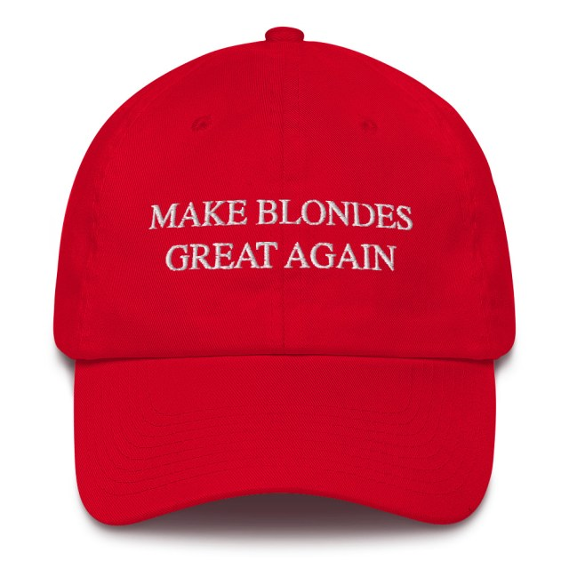 make blondes great again dad cap