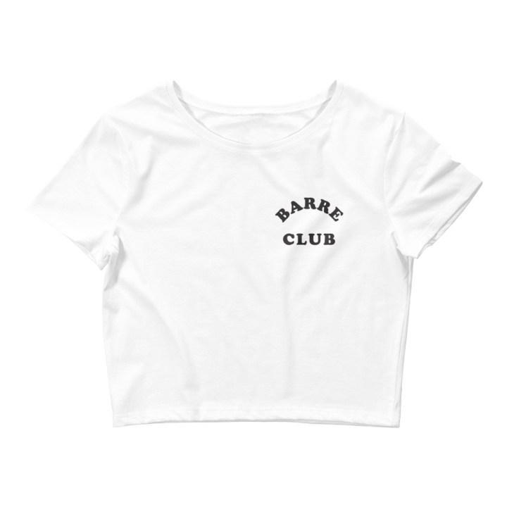 barre club crop tee front