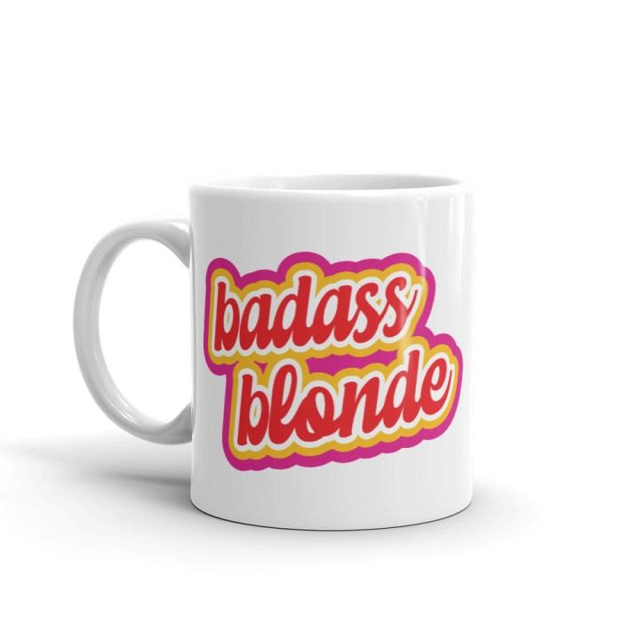 badass blonde coffee mug